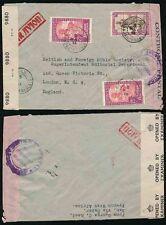 FRENCH SAHARA WW2 1944 BRITISH + AOF CENSORS SAN via SENEGAL AIRMAIL to LONDON