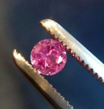 3.5 mm Round Cut Pink Lab Created Sapphire Loose Gemstone. Lot of 10 Stones