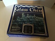 Classic Glass Chess Set Clear Frosted Pieces Board New In Box 2 Player