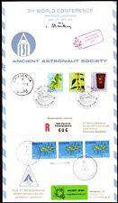 Suisse/yougoslavie 1976 r-Double-carte postale triptik spatiale space [bc0015]