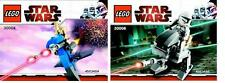 2x LEGO Star Wars The Clone Wars Klon mit AT-RT + Droide mit Stap 30006 30004