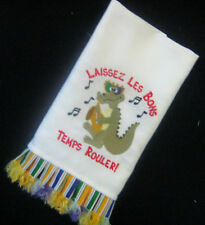 Decorative Mardi Gras Hand Towel 100% Cotton Hand-crafted Embroidery  AL-041