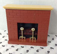 F-P Toys Made In Hong Kong Doll House Plastic Brick Fireplace Living Room Piece