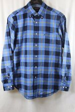 MENS NAUTICA EXPLORERES BLUE PLAID LONG SLEEVE BUTTON FRONT SHIRT SMALL NWT $70