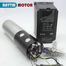 3KW Water Cooled ATC Automatic Tool Change Spindle Motor BT30&3.7KW VFD 380V Kit