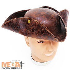 Pirate Tricorn Hat Adults Fancy Dress Buccaneer Mens Ladies Costume Accessory