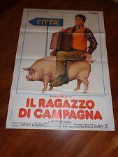 manifesto,IL RAGAZZO DI CAMPAGNA 1984,Renato Pozzetto,Castellano e Pipolo Boldi