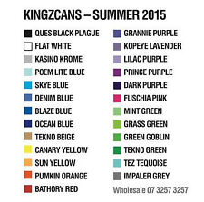 Kingz Cans 96 Spraypaint - $500 Choose from 28 colours full range Australia