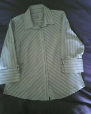 Ben Sherman Size 16 Striped Blouse , good condition, UK p&p free