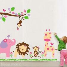Jungle Party Animals Wall Vinyl Art Decal Sticker Kid Room Baby Bedroom Decor
