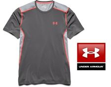 Under Armour Men's Small Quick Dry UA Raid Short Sleeve T-Shirt in Graphite Grey