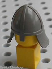Casque LEGO castle minifig OldDkGray helmet 3844 / 6080 6090 6081 6086 6057 ....