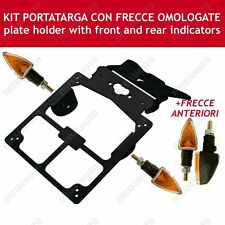 KIT PORTATARGA TARGA + 4 FRECCE ARROW NERO OMOLOGATE MOTO NAKED ENDURO TOURING