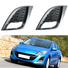 For Mazda 3 2010-2011 Front Fog Lamp Light Cover Frame Grille Trim 2PCS