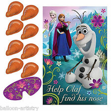 Disney Frozen Stick Pin The Carrot Nose On OLAF Party Game Poster Set Decoration