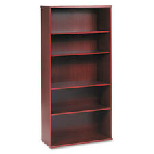 Bush Series C Open Double Bookcase 5-Shelf 35-5/8w x 15-3/8d x 72-7/8h Mahogany