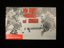 1973-74 The Sporting News Hockey Schedule & Record Book