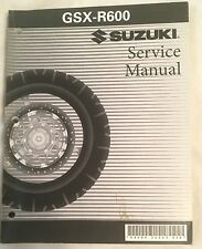 Suzuki OEM Factory Service Manual for 1998-1999 GSX-R600 99500-35063-03E (H)