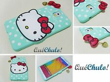 FUNDA CARCASA SILICONA PARA SAMSUNG GALAXY NOTE 3 N9000 HELLO KITTY VERDE+FILM