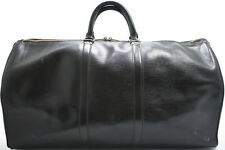 Louis Vuitton EPI KEEPALL 55 XL Reise Tasche Weekender Bag Schwarz Black MANKO