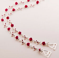 Stunning Diamante Bra straps Red Roses design - One pair