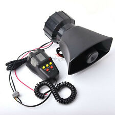 Car Vehicle Horn Siren speaker Mic Warning Emergency Sound Amplifier 12V