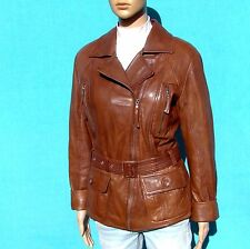 """YESSICA Lambskin Motorcycle Jacket Sz 40 ❤️ M/L 10/12 Leather Moto 43""""Bust NICE!"""