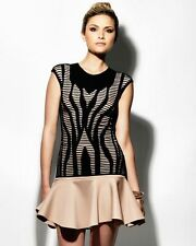 RVN Illusion Knit Cutout Blouse Top Size S NWT $198