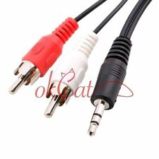 3.5mm Aux Auxiliary Cable Cord To 2 RCA MP3 4.5ft