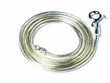 """22""""   Sterling  Silver  Snake chain  NECKLACE  -  1.2 mm  -   for small pendants"""