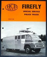 HCB ANGUS FIREFLY BEDFORD SPECIAL SERVICE POLICE TRUCK SALES BROCHURE 1966