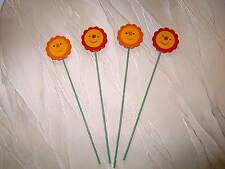 48 Blumenstecker Stecker für Blumen aus Holz Sonne ca 25 cm farbig  KI031