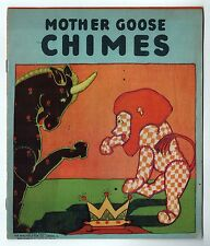 1929 MOTHER GOOSE CHIMES Children's FAIRY TALES Illustrated SAALFIELD Rhymes