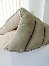 Dog pet cone snuggle bed burrrow cave sage green small dog