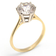 Engagement Ring Solitaire Diamond-Unique 9ct Gold 2 carat