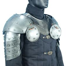 Dark Warrior Pauldrons, Shoulder Armor, LARP, Medieval, Theater, Cosplay, Knight