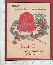 8533 Jell-O dessert 1928 booklet recipe Giro artist Guy Rowe
