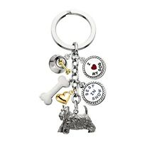 Scottish Terrier keyring (keychain) with charms