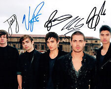 The WANTED Full Complete Band SIGNED 10x8 Photo 5 Members AFTAL Autograph COA