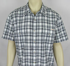 Mens Lucky Brand Western Pearl snap shirt short sleeve – Plaid – Size XL