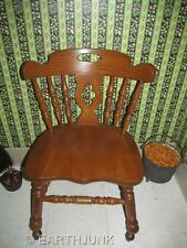Tell City Tanbark Oak Mate's Chair with Casters Early American Sturdy Style 1409