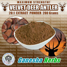 CERTIFIED - DEER ANTLER VELVET 20:1 EXTRACT POWDER 200 Grams MAXIMUN STRENGTH!