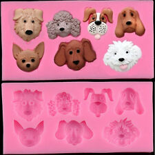 Dog Silicone Fondant Mould Cake Decor Chocolate Baking Mold Sugarcraft Wedding