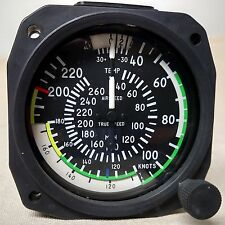 True Airspeed Indicator 40- 220 Knots/40-260 MPH