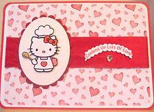 HAND MADE giorno S. Valentino Carta decoupaged personalizzato Hello Kitty Cuoco Chef