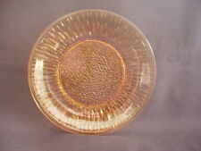 VERECO FRANCE -VINTAGE TEXTURED AMBER GLASS -TEA/SIDE PLATE -RETRO