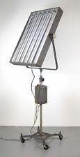 Vintage 1940's Photogenic Industrial Steel Studio Lighting Rolling Floor Lamp