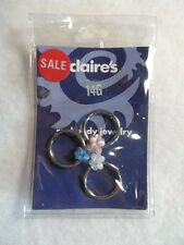 Claire's Body Jewelry 14G Surgical Steel Cluster Bead Captive Bead Rings NIP