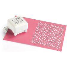 ORNATE SQUARE- Punch all over the page Pattern Paper punch by Martha Stewart
