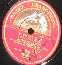 SIGNED by the 4 members ! Beethoven Loewenguth quartet 78 trs / 78 RPM VG++